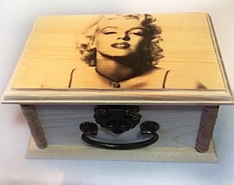Marilyn Monroe keepsake Box, gifts, photo, Marilyn Monroe art, trendy gifts, Photo, movies, star, unique gifts, jewelry Box, birthday Gift,