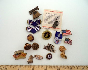SALE Collection of USAF Military Patriotic Lapel Pins LOT