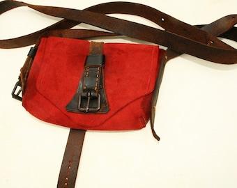 Handbag leather leather bag