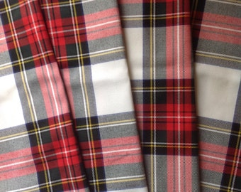 "Dress Stewart Tartan Scottish Napkins 17"" x 17"" Set of 6"