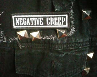 Negative Creep patch. Iron or sew patch. Black and white. Nirvana inspired. . NIRVANA. Nirvana patch. NIRVANA BLEACH.