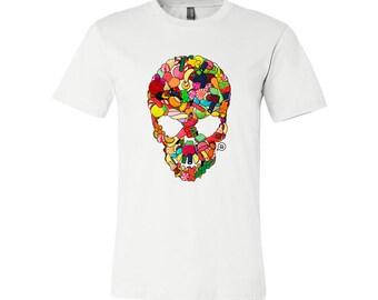 T-SHIRT KOMOA Greedy skull (Black or White)