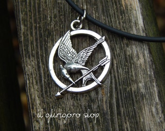 Harry Potter Deathly Hallows necklace/Hunger Games mockingjay