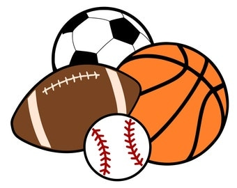 Sports Balls - Basketball, Soccer, Football, Baseball - svg file