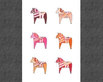 If I had a Dala in pink Limited Edition Digital Print A3
