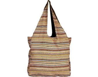 POCHE Handloom Cotton eco friendly Reversible Shopping Tote Bag