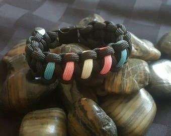 Transgender Pride Bracelet- Gay Pride Paracord Bracelet- Rainbow Bracelet- Pride Support Bracelet - LGBT Pride Bracelet