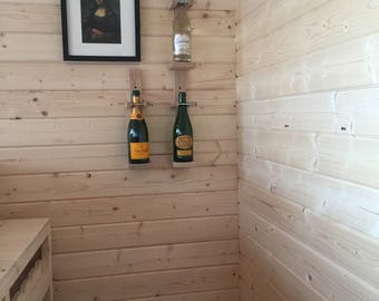 Solid oak wine bottle holders - *** Also check out our home bars ***