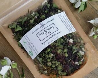 Organic Blackberry Tea, Loose Leaf Tea Blend, Organic Herbal Tea, Natural Tea, Real Fruit Tea Blend, Fruity Tea, Berry Loose Leaf Tea, Vegan