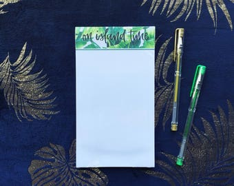 On Island time notepad