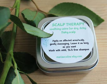 SCALP THERAPY soothing salve for dry, itchy, flaky,scalp / free shipping