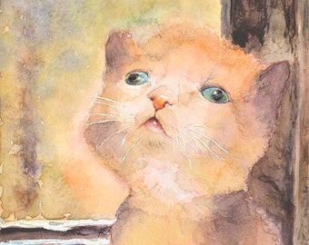 Cat No10 family water color