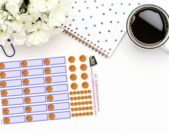 Planner Stickers| Basketball Stickers| Basketball Planner StickersS012-HV