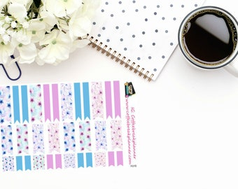 Planner Stickers|Decorative Page Flag Stickers|Page Flag Stickers|Floral Page Flags|For use in a variety of planners and journals|F015