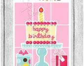 Wallpaper Stickers - Happy Birthday - planner stickers - #freestyleplanning