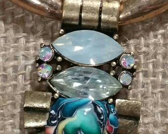 Multi colored rhinestone necklace