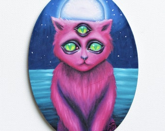 Furry and Wise original oil painting