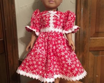AG Red and White Christmas dress