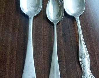 Trio of Vintage Silverplate Spoons