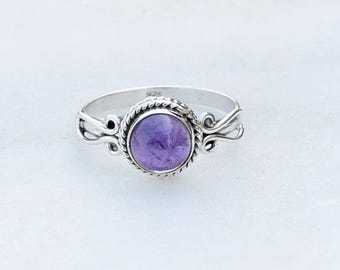 Amethyst Ring, Amethyst Silver Ring, Silver Amethyst Ring, Solid Sterling Silver Ring, Sterling Silver Ring,size 3 4 5 6 7 8 9 10 11 12 13