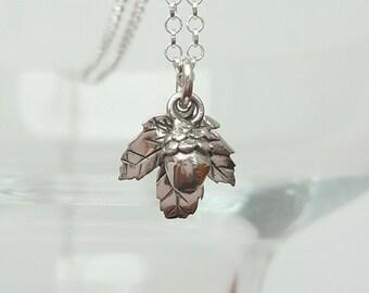 Sterling Silver Acorn Necklace, Silver Acorn Necklace, Acorn Necklace, Acorn, Gift For Her