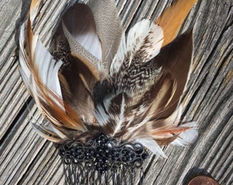 Feather hair combs