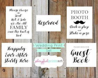 Wedding Print Set, Instant Download