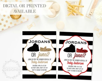 Gender Reveal Invitation | Jordans or Janes
