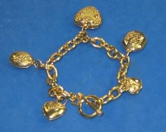 F-4 Vintage Bracelet 6  in arm hole ,charm