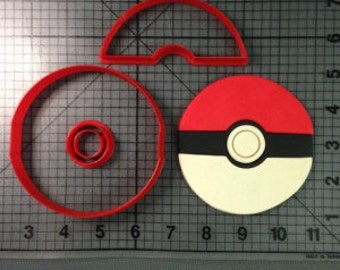 Pokemon Ball Cookie Cutter