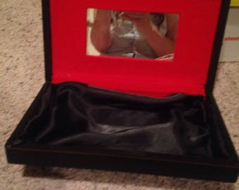 Vintage black rectangle jewlery box