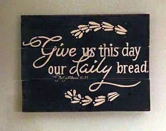 Charmant Scripture Wall Art   Scripture Signs   Christian Signs   Religious Wall Art    Bread