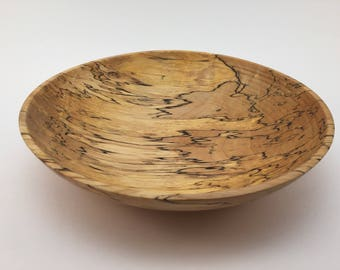 Spalted Maple Bowl - hand turned wooden bowl on a lathe