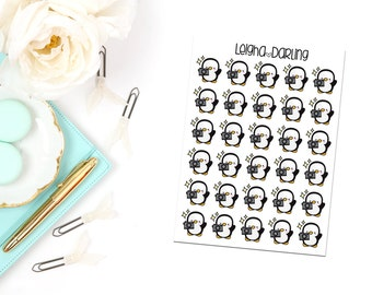 Camera Penguin Planner Stickers