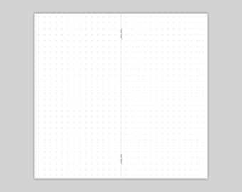 Notebook - Dot Grid 48 pages - regular, personal, a6, field notes, passport