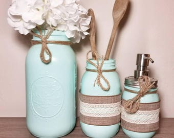 Rustic Kitchen Decor, Rustic Kitchen Canisters, Country Kitchen Decor, Country Kitchen Canisters, Farmhouse Kitchen Decor, Rustic Decor