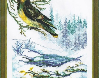 Cross Stitch Kit Winter bird