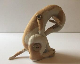Whippet, linen stuffed animal.