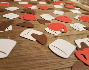 Hot cocoa bar confetti, hot chocolate bar decor, camping party, hot cocoa  decor, marshmallow decorations, chocolate chips, holiday party