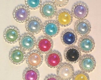 20MM Rhinestone Pearls ~ PLEASE SEE DESCRIPTION for Quantities of colors!