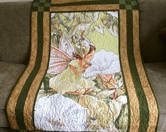 Morning Apple Fairy Quilt, Wall Hanging