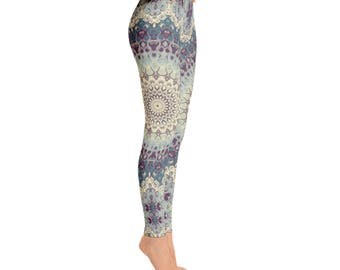 Printed Yoga Leggings - Womens Leggings, Boho Mandala Leggings Tights, Yoga Tights, Stretch Pants, Yoga Pants