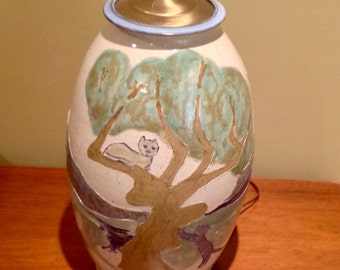 Vintage Hand Made Ceramic Lamp - 15% cupon with cupon: SUMMER15