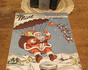 Mine Magazine for the Catholic Child, Vintage Children's Publication, Three Illustrated Catholic Juvenile Magazines, Kid's Literature, 1950s