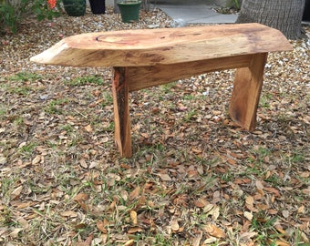 Live Edge Oak Bench or Coffee Table