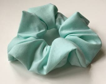 Pastel Turquoise Scrunchie