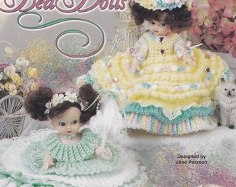 Air Freshener Bed Dolls, Annie's Attic Crochet Doll Clothes Pattern Booklet 870811 HTF NEW