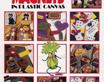 300 + Magnets, Leisure Arts Deluxe Plastic Canvas Pattern Booklet 1807 Fridgies Appliques & More