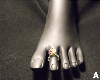 Cluster Toe Ring (Clear)