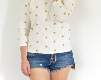 SALE! Star Spangled Shirt - Gold Stars